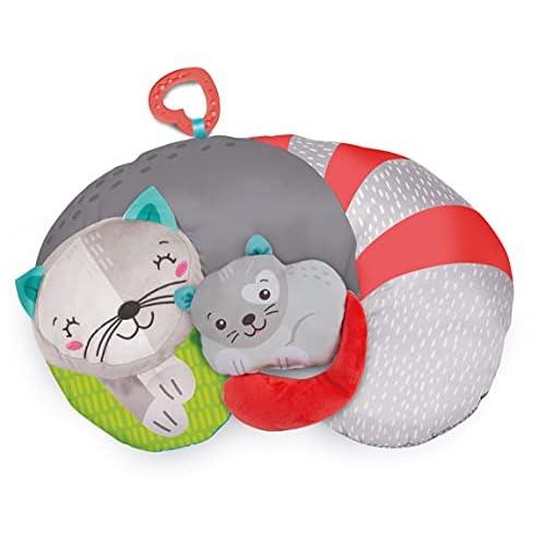 Clementoni For You, 17278, Kitty Cat Tummy Time Pillow, Cuscino per Supportare Sviluppo dei Muscoli per il Gattonamento