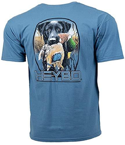 Heybo Waiting Lab Too Short Sleeve Tee Shirt (Blue) (X-Large)