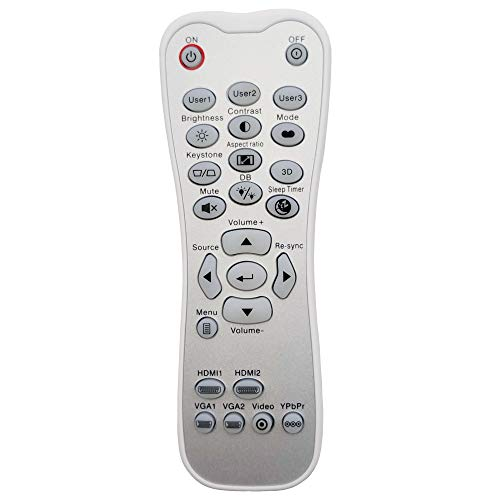 INTECHING BR-3003B Projector Remote Control for Optoma GT1080Darbee, GT1080, HD141X, HD142X, HD143X, HD144X, HD26BR, HD27, HD27HDR, HD28DSE, HD29Darbee, HD39Darbee, UHD40, UHD50, UHD550X, UHD60, UHZ65