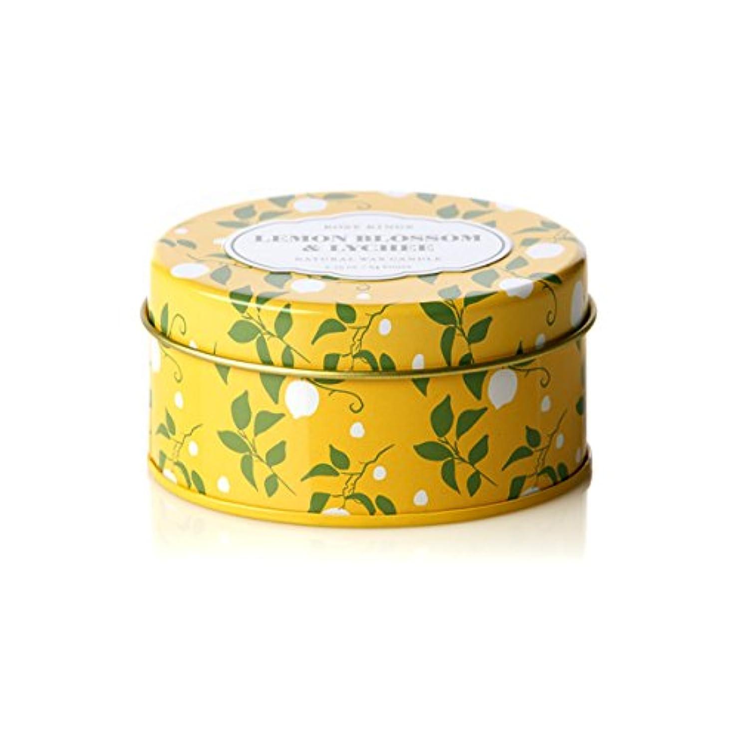低いソケット水ロージーリングス トラベルティンキャンドル レモンブロッサム&ライチ ROSY RINGS Lemon Blossom & Lychee Travel Tin