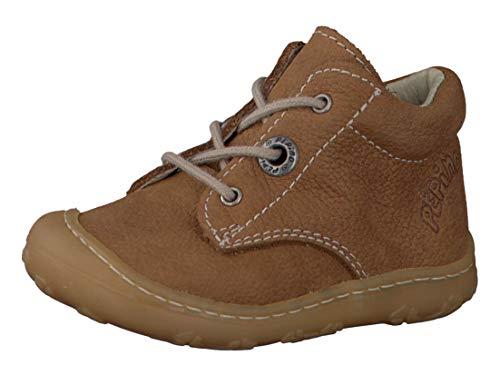 RICOSTA Pepino Unisex - Kinder Stiefel Cory, WMS: Mittel, Freizeit leger Boots schnürstiefel Leder Kind-er Kids junior toben,Curry,23 EU / 6 UK