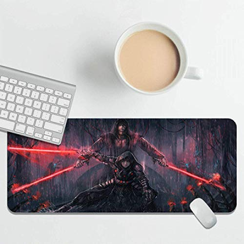 Star Wars Gaming Mouse Mat Large Led Mouse Pad with Many Kinds Lighting Modes for Gamers, PC and Laptop-Colorful  400 × 900 × 2mm Lock