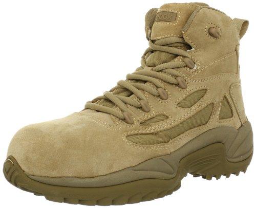 Reebok Work Men's Rapid Response RB8694 Safety Boot,Tan,10.5 W US