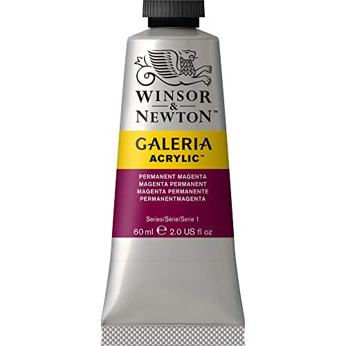 Winsor & Newton Galeria Acrylic Paint, 60-ml Tube, Permanent Magenta, 2 Fl Oz