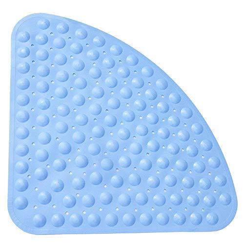 Pinacis Alfombra Antideslizante de Baño de Seguridad, Alfombra para Bañera Antibacteriano Resistente Al Moho con Poderosas Ventosas para Cuarto de Baño 54 x 54 cm - Azul