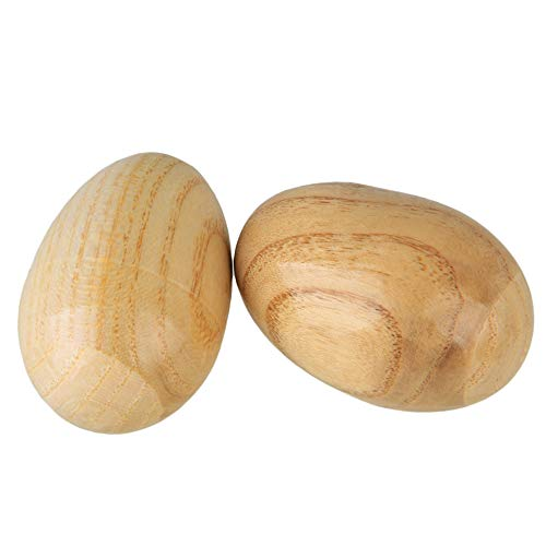 4. Lovermusic Natural Finish Percussion Wooden Egg