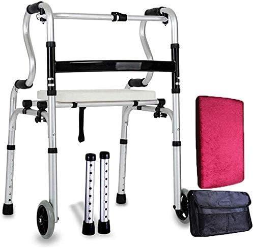 ZXY-NAN Wheelchair Lightweight Foldable Rollator Walker Disabled