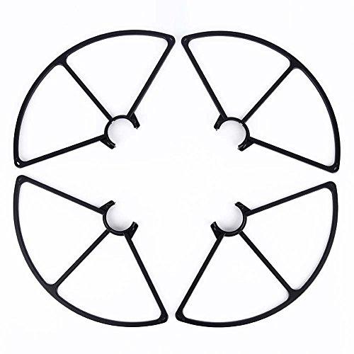 vhbw Rotor Schutz Abdeckung schwarz für Drohne Multicopter Quadrocopter Yuneec Thyphoon Q500, Q500+, Q500 4K, Q500G wie YUNQ4K127