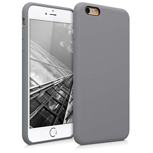kwmobile Hülle kompatibel mit Apple iPhone 6 Plus / 6S Plus - Handyhülle gummiert - Handy Case in Titanium Grey