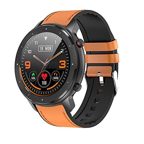 Smart Watch F12 1.3 Pulgadas All Rueda Pantalla Táctil Completa Podómetro Moda Mujeres GT2 Smartwatch Monitoreo De Ritmo Cardíaco Pulsera para Android iOS,B
