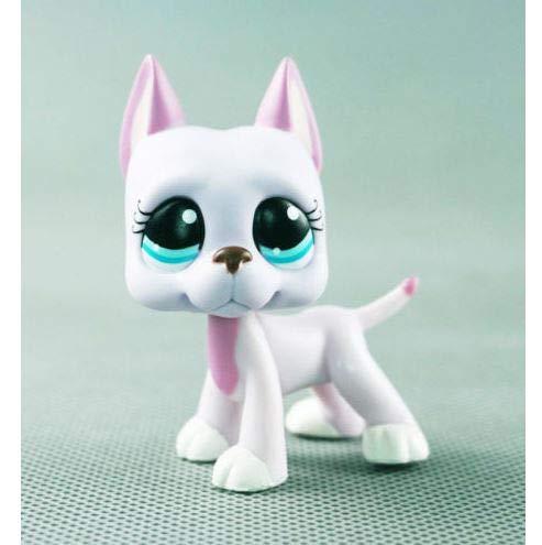 3' Littlest Pet Shop LPS#1022 Pink Lavender Great Dane Dog Blue Eyes