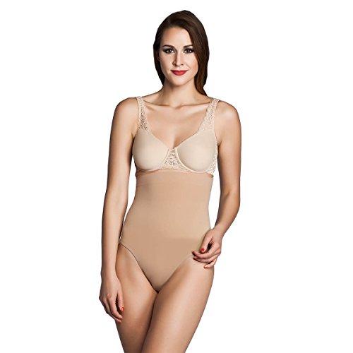 Miss Perfect Shapewear Damen - Bauchweg Unterhose Damen Body Shaper Seamless Miederhose Damen Bauch Weg Hose - formend & kühlend Haut Größe L