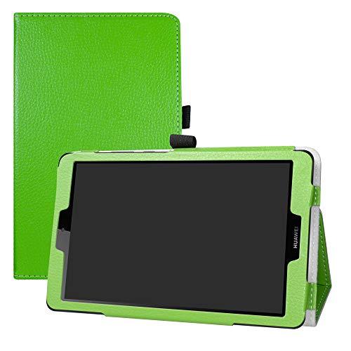 LFDZ Huawei MediaPad M5 Lite 8.0 inch 2019 Hülle, Schutzhülle mit Hochwertiges PU Leder Tasche Hülle für 8.0