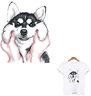 Ironing Applications for Clothing Siberian Husky Dog Patch transfert thermocollants t-Shirt toppe Iron on Patches Stripes Stripe