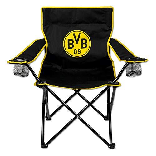 Borussia Dortmund Unisex– Erwachsene DS Direct BVB Campingstuhl Logo, schwarzgelb, one Size