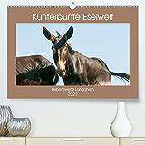 Kunterbunte Eselwelt - Liebenswerte Langohren (Premium, hochwertiger DIN A2 Wandkalender 2021, Kunstdruck in Hochglanz)