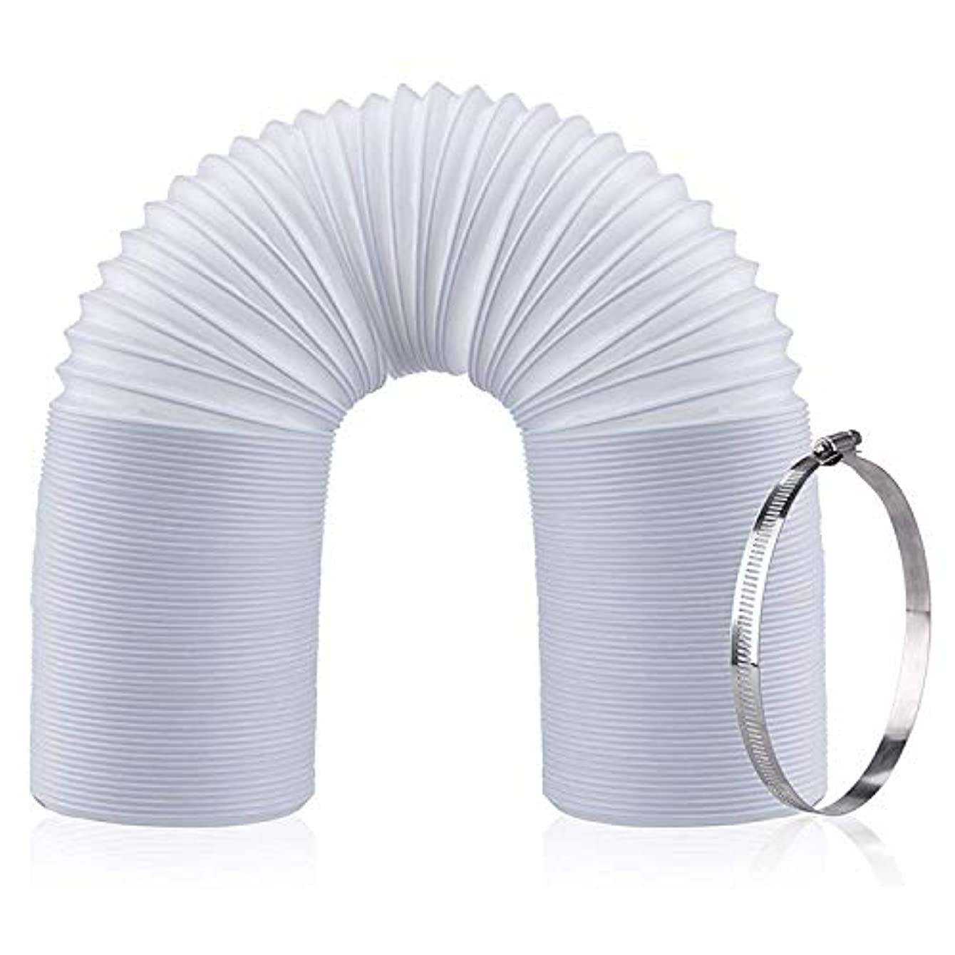 Portable Air Conditioner Exhaust Hose   Clockwise/Counter Clockwise Threads   5 Inch Diameter   59 Inch Length
