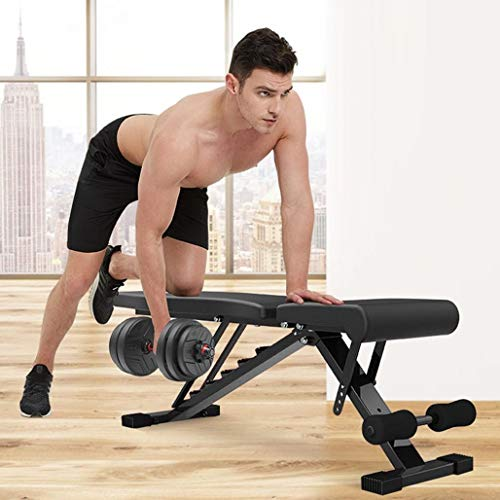 [US Fast Shipment] Foldable Weight Bench, Adjustable Workout Bench for Home Gym, Support 770lbs, Strength Training Benches for Full Body Workout, [2020 Upgraded Version]