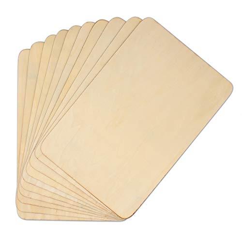 10 Stück Holzplatten, Premium-Naturholz, unbehandeltes Holz, dünne Sperrholzplatten für Haus, Flugzeug, Schiff, Boot, Handwerksprojekt oder Schulprojekt (300 x 200 x 1,5 mm)