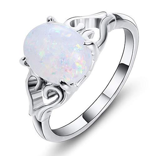 wuligeya Art JKWL Dames ring, trouwring, verlovingsring, edelsteen ring hartvormige paar sieraden