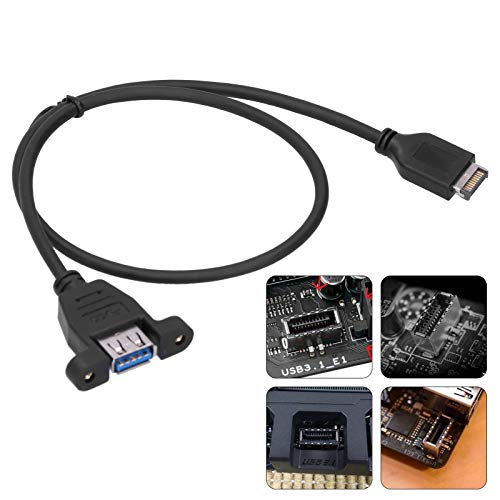 Cable de extensión tipo A hembra a 3.1, cable de extensión profesional de fuerte compatibilidad Plug and Play para ASUS ROG MAXIMUS IX FORMULA/STRIX Z270I / Z270G