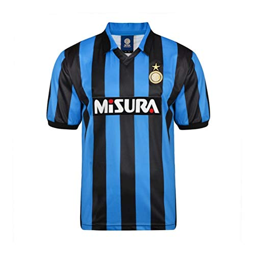 Score Draw Mens 1990 Inter Milan Retro voetbalshirt