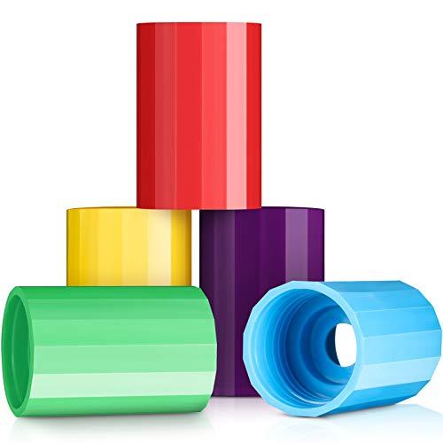 5 Piezas Tubos de Tornados Botella Tornado Conector de Litro Conector Vórtice Tubo de Ciclón Tubo Plástico Tornado Conector Tornado Botella Soda en 5 Colores para Experimento Científico y Prueba