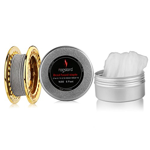 Braid Fused Staple 6 ft - AWG (Flat 0.1x0.3) x 8 +36GA+38GAx16 Resistance Wire,Nichrome 80 Prebuilt Wires for Household Wiring Use with Cotton