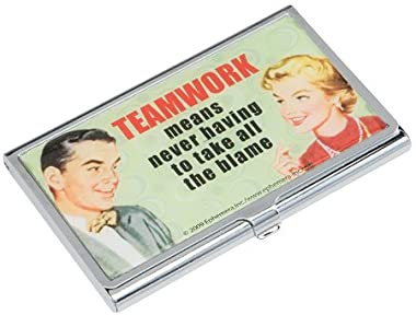 Teamwork Means Never Having to Take the Blame Metal Business Card Holder Case