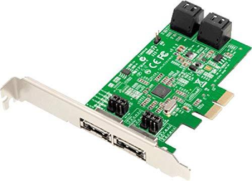 Dawicontrol DC-624E Retail RAID-Kontroller (2X PCI-e, 4-Kanal, SATA III, RAID 0/1/5/10)