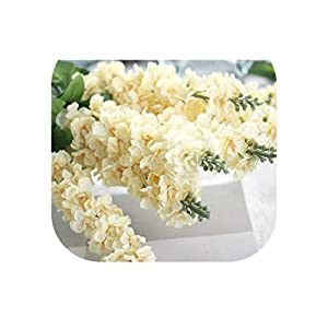 Charmg 90cm Delphinium Silk Flower Artificial Europe Style Wedding Hyacinth White Artificial Flowers Bouquet for Home Party Decoration
