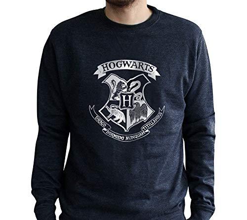 ABYstyle - Harry Potter - Sweat Vintage - Poudlard - Noir chiné - Homme (M)