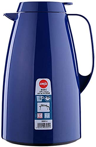 Emsa 505014 Isolierkanne, 1.5 Liter, Quick Tip Verschluss, 100% dicht, Blau, Basic