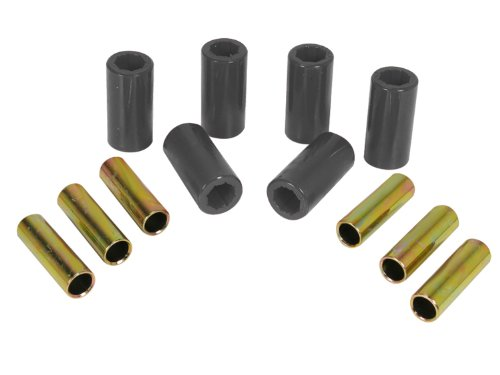 Prothane 1-1001-BL Black Front Spring Eye and Shackle Bushing Kit for Jeep CJ5 and CJ6