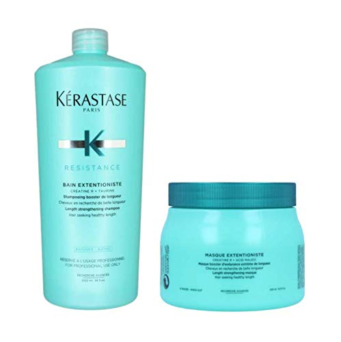 Kit Shampoo e Máscara Kérastase Resistance Extentioniste (1000ml e 500ml)