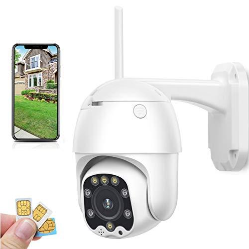AINSS 3G 4G Tarjeta SIM Cámara de Seguridad PTZ Cámara IP inalámbrica 2MP 5MP 1080P HD Seguridad Vigilancia Exterior CCTV WiFi Exterior Impermeable Camhi TP Link Camara de vigilancia 1080P4G+64G