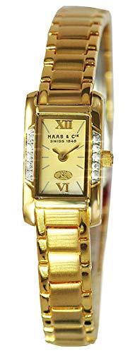Haas & Cie Damenarmbanduhr Josina Gold KHC407JFA