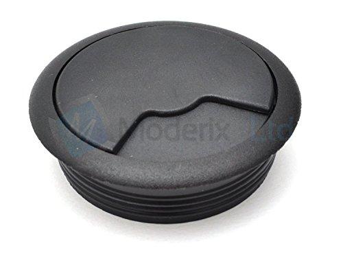 Tapa pasacables de plastico para mesas, ideal para usar ordenadores de sobremesa, 60 cm, 2 x