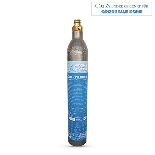 Cilindro CO2, botella de CO2 adecuado para sistema de agua potable Grohe Blue Home. Rellenados con CO2.