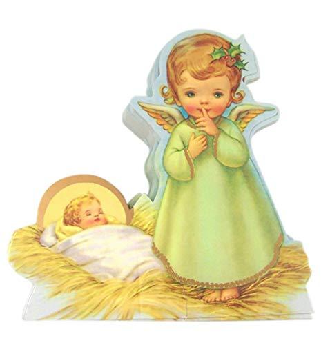 Needzo Nativity Decorations, Manger Nativity Scene Statuette, Religious Christmas Cards, Pack of 10