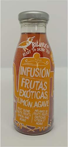 20x Infusión de frutas exóticas, limón y agave - Bilurico Ready to Drink Tea. Bebida saludable y ecológica (sólo 2 kcal). 1,80€/ botella