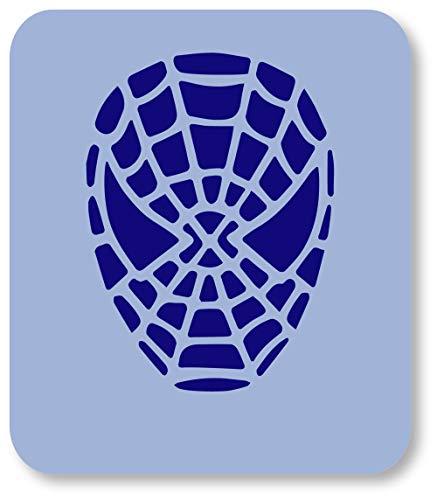Spiderman Face Painting Stencil 7cm x 6cm 190micron Washable Reusable Mylar