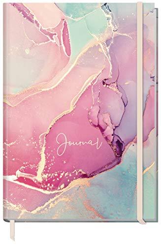 Trendstuff by Häfft Bullet Journal à pois A4+ avec élastique Rose soyeux 156 pages Carnet à pois Carnet de croquis Journal intime durable et climatiquement neutre