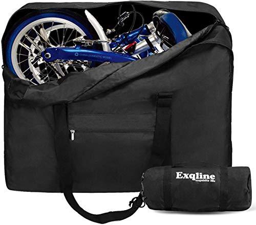 Exqline Fahrrad Transporttasche Klapprad Tragetasche 1680D Oxford Faltrad Transporttasche Fahrrad Reisetaschen Abwahrungstasche für 14