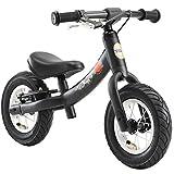 BIKESTAR 2-en-1 Bicicleta sin Pedales para niños y niñas 2-3 años | Bici con Ruedas de 10' Edición Sport | Negro