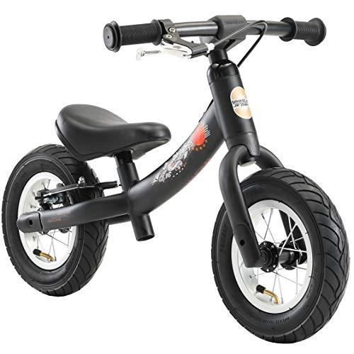 BIKESTAR Bicicletta Senza Pedali 2 - 3 Anni per Bambino et Bambina  Bici Senza Pedali Bambini con Freno 10 Pollici Sportivo  Nero