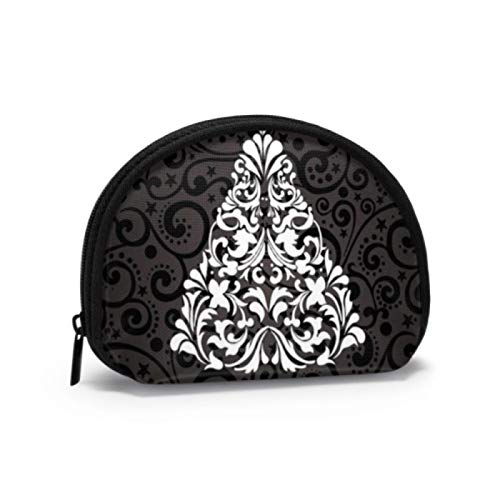 Pouch of Coins Elegant Christmas Tree Icon Symbol Coin Purse for Women Womens Change Pouch with Zipper Mini Cosmetic Makeup Bags for Women Girls Party Gifts and Decorations