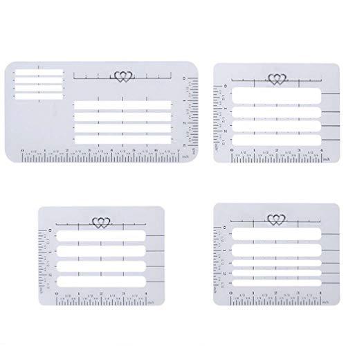 Healifty - Plantilla de plástico para dirección, 4 unidades, para tarjetas de...