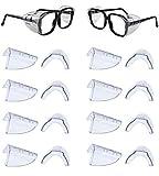 dedc set di 8 paia occhiali di protezione laterali per occhiali da piccoli a madi antiscivolo scudi laterale per occhiali di sicurezza in tpu trasparente