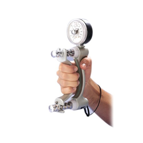 Jamar Hydraulic Hand Dynamometer, Lightweight Max Force Indicator to Measure Grip Strength, Calibrated Strengthener Measures PSI, Cordless Hand Evaluation Tool, Easy Squeeze Adjustable Exerciser